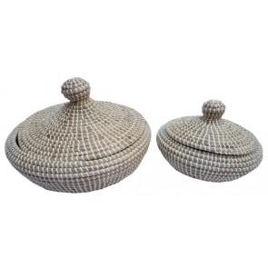 Set of 2 Seagrass Basket