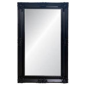 Black Ornate Bevelled Mirror