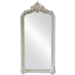 Antiqued Ornate Bevelled Mirror - White