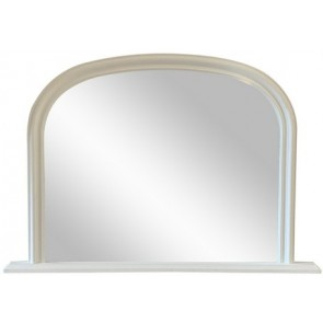 Mantle Mirror - White