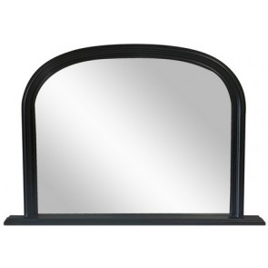Fine Mantle Mirror - Black