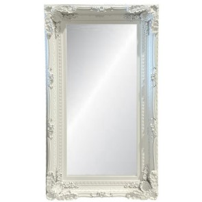 Ornate Wall Mirror - White