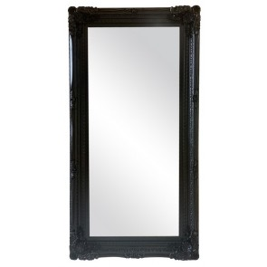 Ornate Mirror Black 100x200cm