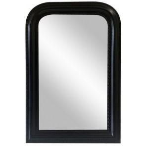 Curved Top Wall Mirror - Black