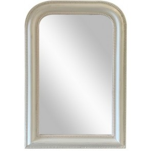 Curved Top Wall Mirror - White