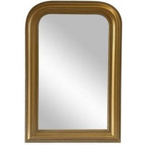 Curved Top Wall Mirror - Gold