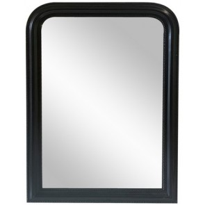 Curved Top Wall Mirror Large - Black