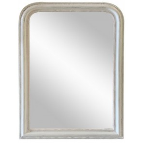 Curved Top Wall Mirror Large - White