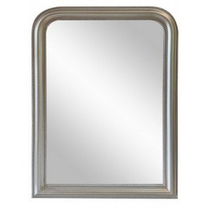 Curved Top Wall Mirror Large - Silver