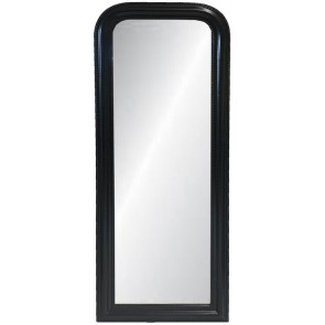 Curved Top Mirror Large - Black
