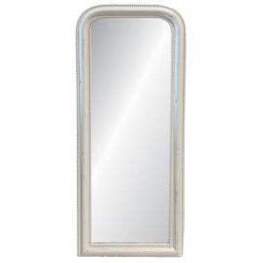 Curved Top Mirror Large - White