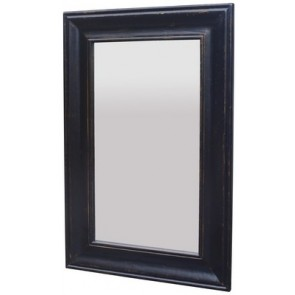 Solid Oak Mirror Black