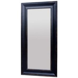 Solid Oak Long Mirror - Black