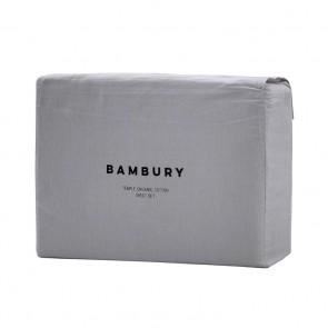 Temple Organic Cotton Sheet Sets by Bambury - Grey