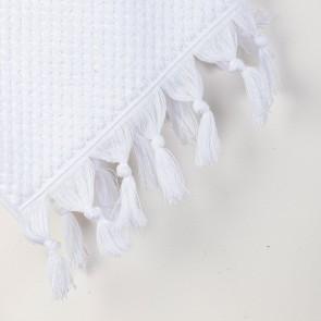 Turkish Cotton Tassel Towel Bath Towel - White