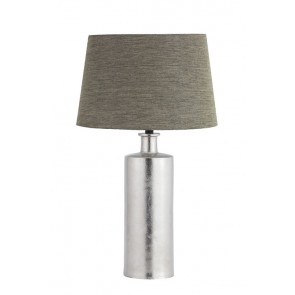 Nickel Table Lamp with Linen Shade