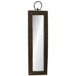 Long Brass Mirror