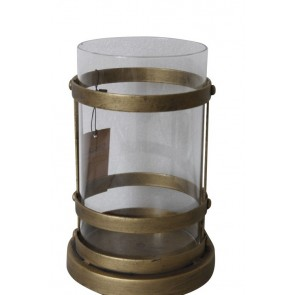 Brass Metal/Glass Candle Holder