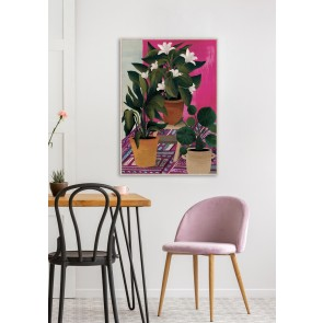Potted Happiness Framed Canvas Art