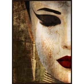 Oriental Jem Framed Canvas Art