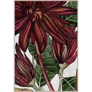 Floral Vibe Framed Canvas Art