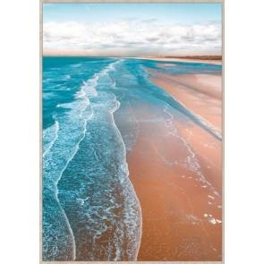Miles of Beach Framed Canvas Art