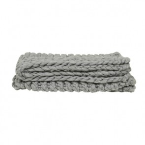 Evie Knit Throw - Light Grey