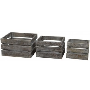 Wooden Crates Set of 3