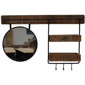 Mirror Shelf Wall Unit