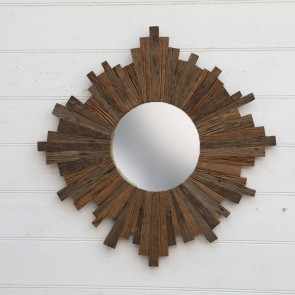 Wood Crafted Mirror