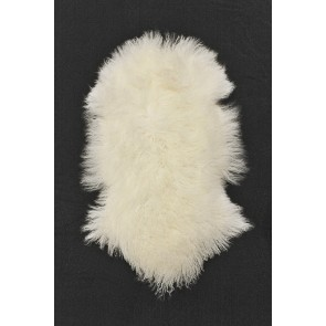 Tibetan Lamb Skin - Natural White