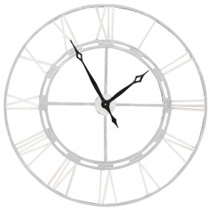 Outdoor Clock Antique White