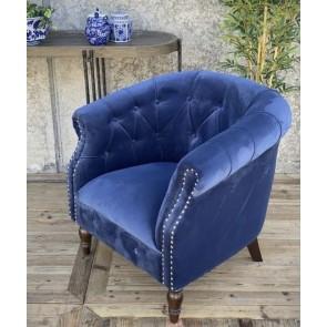 Blue Velvet Abbey Chair