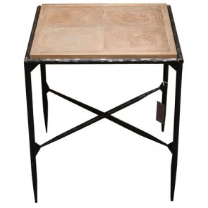 Outback Side Table Elm/Iron