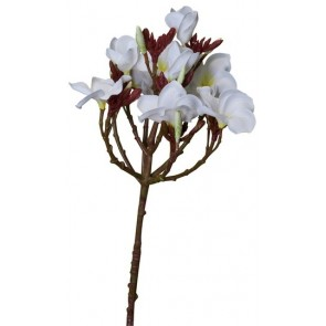 Faux Plumeria Spray Frangipani White - Set of 2