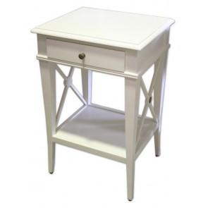 Villa Bedside Table White Poplar