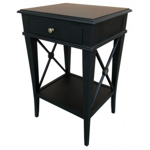 Villa Bedside Table Black Poplar