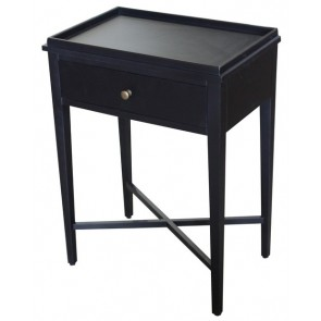 Bordeaux Bedside Table - Black Poplar