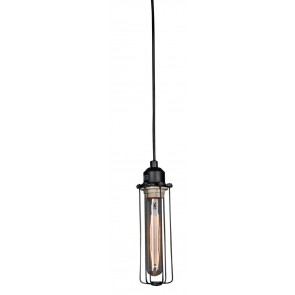 Industrial Hanging Light with Edison Bulbs