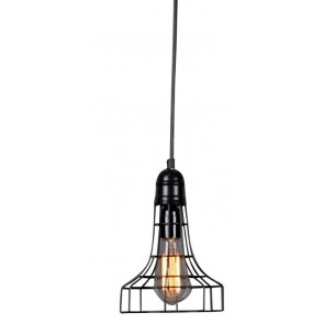 Industrial Hanging Light Matt Black
