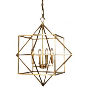 Hanging Geometric Light - Gold