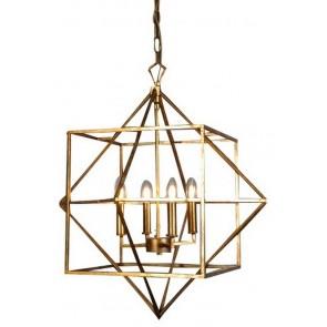 Hanging Geometric Light - Gold