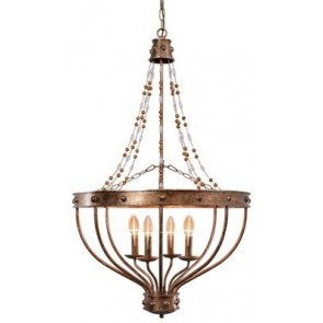Antique Silver Foil Chandelier