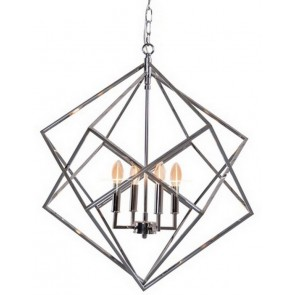 Hanging Geometric Light - Silver