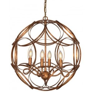 Antique Gold Orb Chandelier
