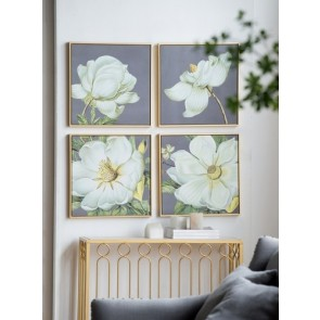 Magnolia Wall Art - Set of 4