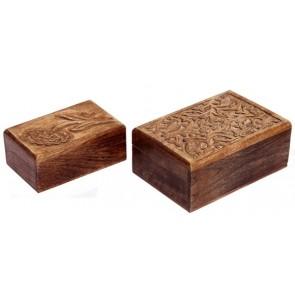 Set of 2 Mango Wood Boxes