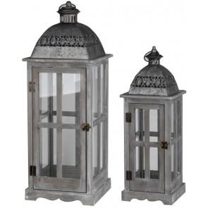 Set of 2 Urban Scape Lanterns
