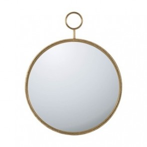 Gold Framed Round Wall Mirror