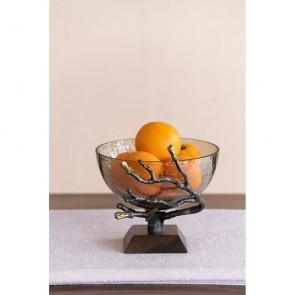 Smoke Glass Twig Bowl